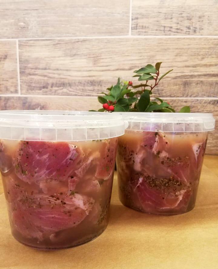 Mentės šašlykas marinuotas obuolių sultyse (1 kg.)